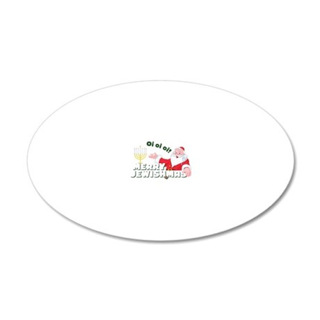 Merry Jewishmas 20x12 Oval Wall Decal