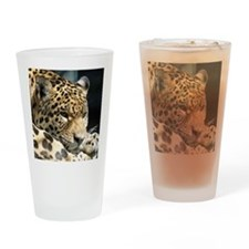 Leopard004 Drinking Glass