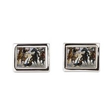 Remington cowboy art: Aiding a Comrade Cufflinks