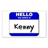 hello my name is kenny Rectangle Decal