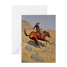 The Cowboy, 1902 painting by Fred Re Greeting Card