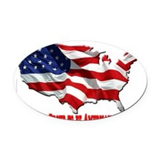 usa-logo3 Oval Car Magnet