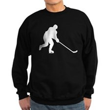 Hockey Player Silhouette Sweatshirt