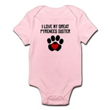 I Love My Great Pyrenees Sister Body Suit