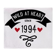 wild at heart since 1994 Throw Blanket