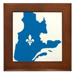 CarteQc1AvecLys.png Framed Tile