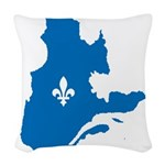CarteQc1AvecLys.png Woven Throw Pillow