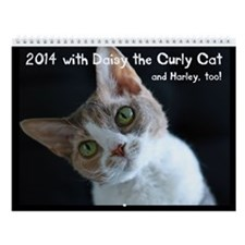 2014 Wall Calendar With Daisy The Curly Cat