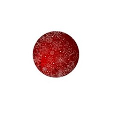 SNOWFLAKES (RED) Mini Button