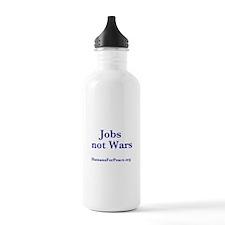 Jobs Not Wars Water Bottle