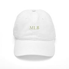 Gold Initials Baseball Baseball Cap