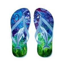 Dolphin Gaze Flip Flops (4 STRAP COLOR CHOICES)