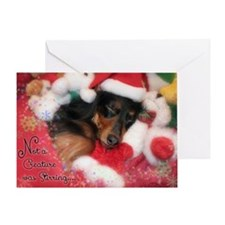 Unique Dachshund santa Greeting Card