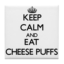 Keep calm and eat Cheese Puffs Tile Coaster