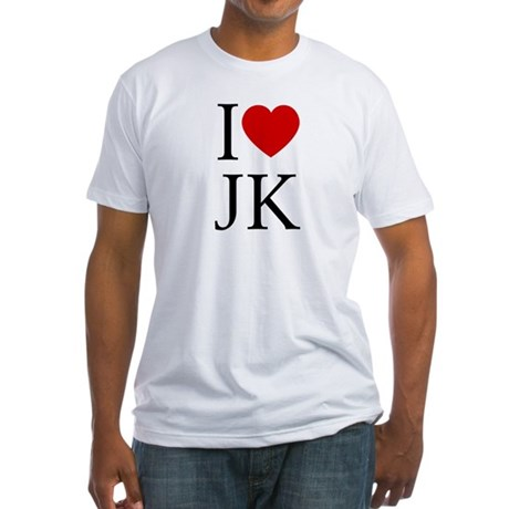 I (heart) JK. Fitted T-Shirt