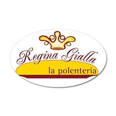 Regina Gialla (logo) 35x21 Oval Wall Decal