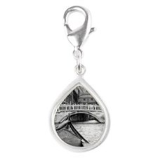 Romantic Gondola Ride on Ve Silver Teardrop Charm