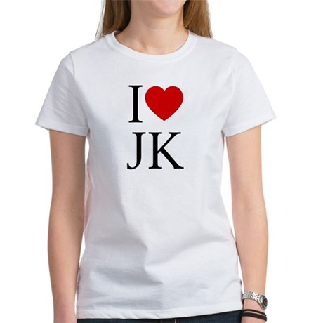 I (heart) JK. Womens T-Shirt