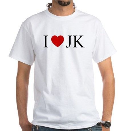 I (heart) JK. White T-Shirt