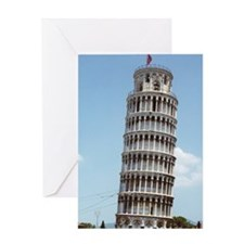 Leaning Tower of Pisa Italy Souvenir Greeting Card