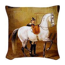 Andalusian Horse Woven Throw Pillow