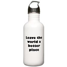 Leave the world a better place Water Bottle