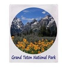 Grand Tetons National Park in Spring Throw Blanket