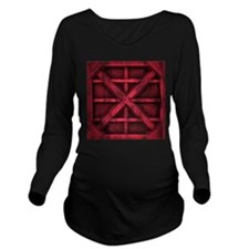Rusty Shipping Container - red Long Sleeve Materni