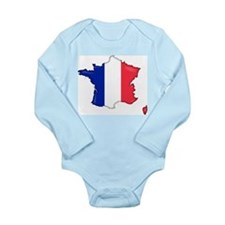 French Flag Map Body Suit
