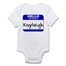 hello my name is kayleigh  Infant Bodysuit