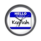 hello my name is kaylah  Wall Clock
