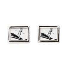 Pinup Workin Girl Cufflinks