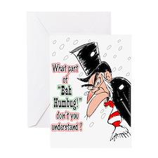 Scrooge 1 Greeting Cards