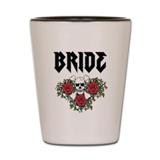Black Bride Skull Shot Glass