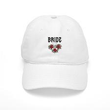 Black Bride Skull Baseball Baseball Cap