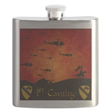 Harvest Moons 1St Cavalry Past Present Flask