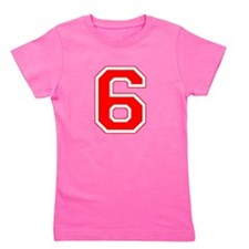 6 red.png Girl's Tee