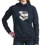 Stack Of Gray Books Hooded Sweatshirt