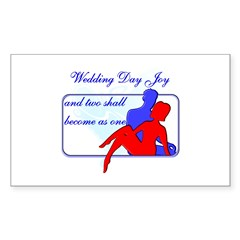 Wedding Poem Rectangle Sticker