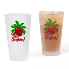 Lingon Berry Christmas Drinking Glass