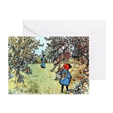 Carl Larsson: The Apple Harvest Greeting Card