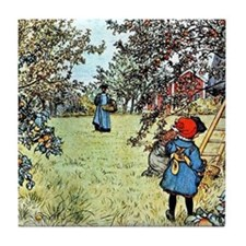 Carl Larsson: The Apple Harvest Tile Coaster