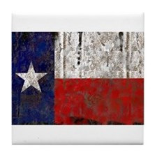 Texas Retro State Flag Tile Coaster