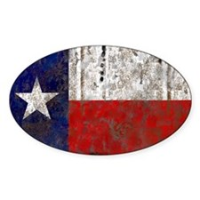 Texas Retro State Flag Oval Decal