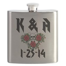 Personalized Skull Flask