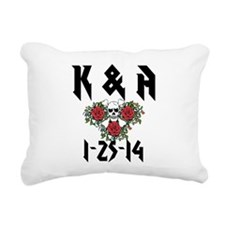 Personalized Skull Rectangular Canvas Pillow