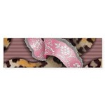 Leopards and Lace - Pink Sticker (Bumper 50 pk)
