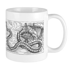 Sea Monster Attacking Boat Mugs