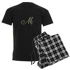 Gold Monogrammed Initial Pajamas