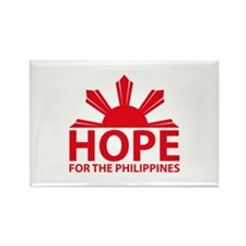 Hope For The Philippines Rectangle Magnet (10 pack
